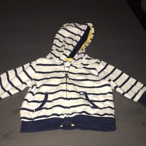 Other - Navy and White Strip Hoodie